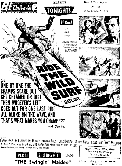 Ride the Wild Surf, Film, 1964