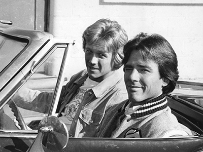 Richard Hatch and Bruce Davison