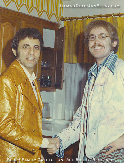 JAN BERRY with Friend and Drummer Hal Blaine, Circa 1969-70