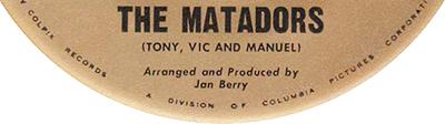 The Matadors, Jan Berry, 1963