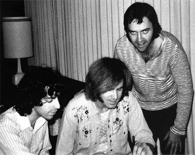 Jan Berry, Alan Wolfson, and Jim Pewter, 1975