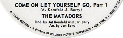 The Matadors, Come ON Let Yourself Go