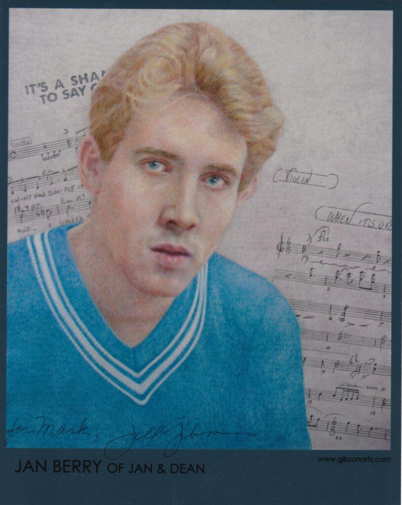 Jan Berry portrait by Jill Gibson